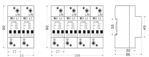 一级模块式电源电涌雷电竞首页WLDM8-100KA