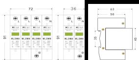 三级模块式电源电涌雷电竞首页WLDM8-40KA
